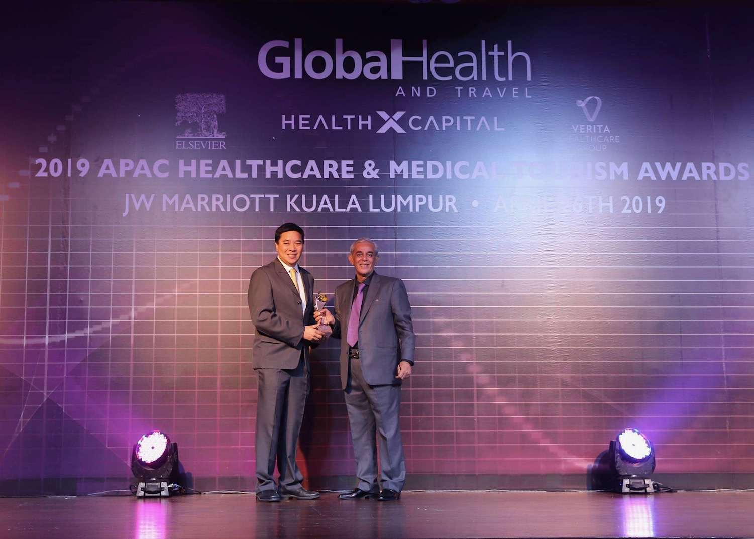 Global Health and Travel Award - 2019 APAC Healthcare & Medical Tourism Award