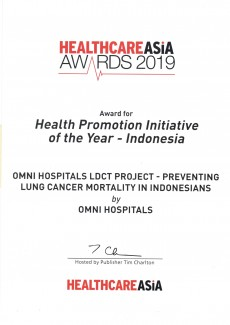 Health Promotion Initiative of The Year - 2019