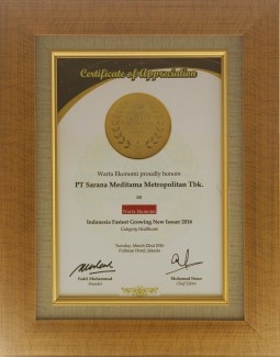 INDONESIA FASTEST GROWING  NEW ISSUERS AWARD 2016